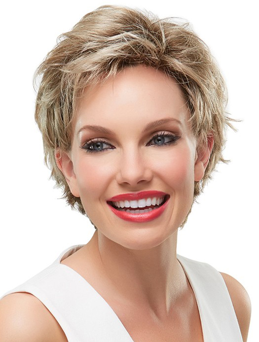 Gorgeous Monofilament Blonde Short Wigs