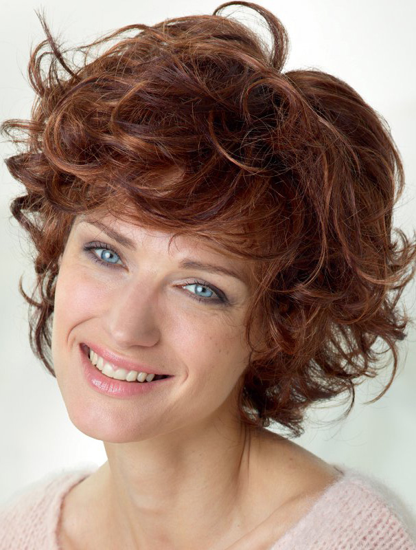 """Auburn Curly 10"""" Discount Lace Front Wigs"""