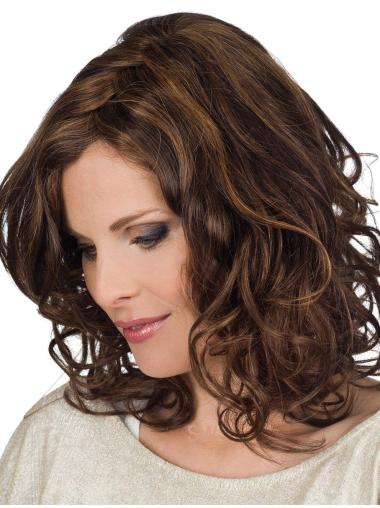 Medium Hand-tied Real Hair Wigs