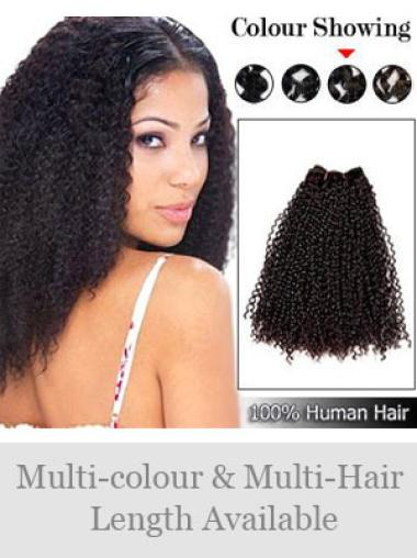 Cheap Brown Curly Weft Extensions