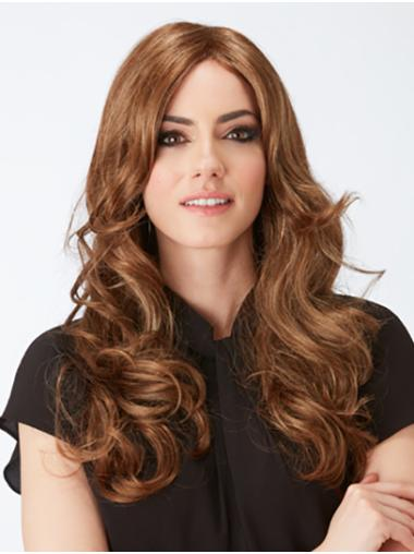 Curly Brown Capless Layered Synthetic Cheap Long Wigs
