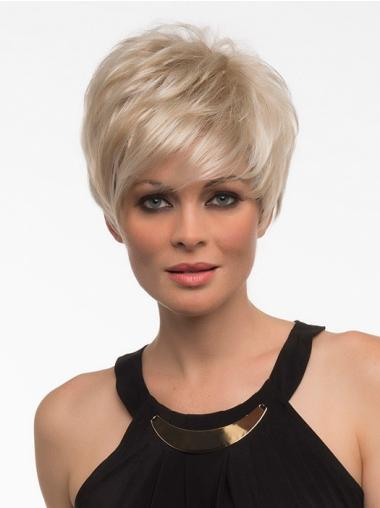 Top Short Blonde Straight Synthetic Wigs