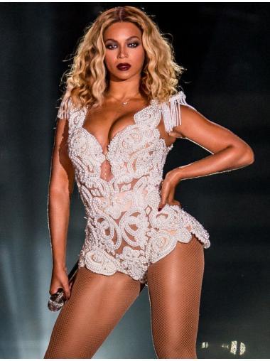 "14"" Blonde Wavy Comfortable Beyonce Wigs"