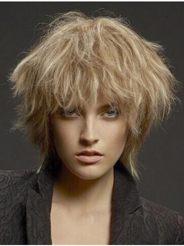 Discount Layered Blonde Monofilament Synthetic Wigs