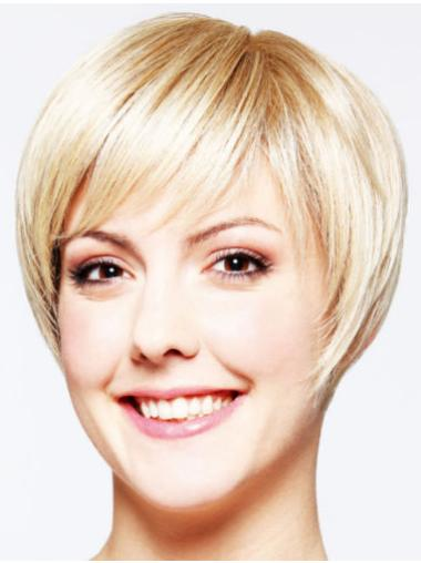 "Blonde 8"" High Quality Layered Short Wigs"