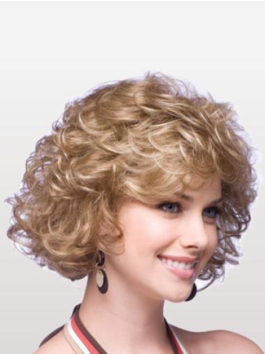 Graceful Blonde Curly Synthetic Wigs