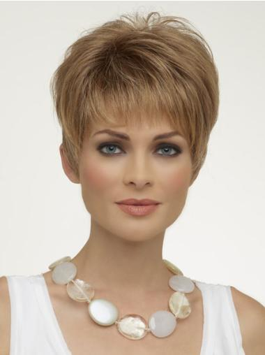Classy Blonde Straight Synthetic Wigs