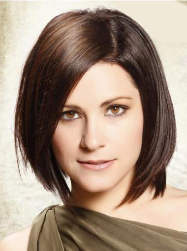 Suitable Chin Length Human Hair Lace Front Wigs