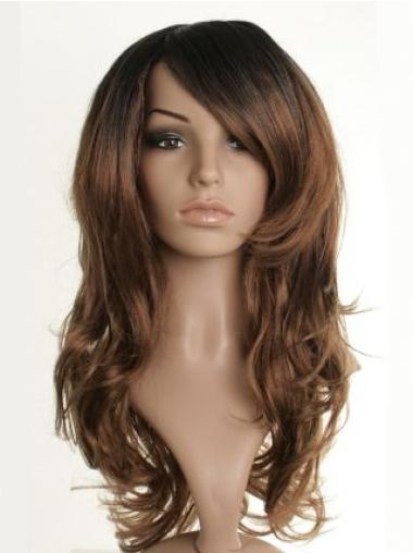 Long Brown Wavy Synthetic Celebrity Wigs