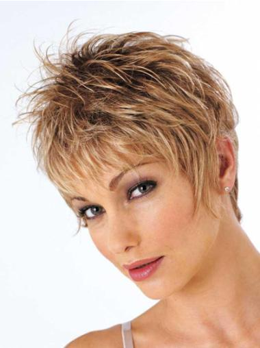 Cheapest Brown Wavy Synthetic Short Wigs